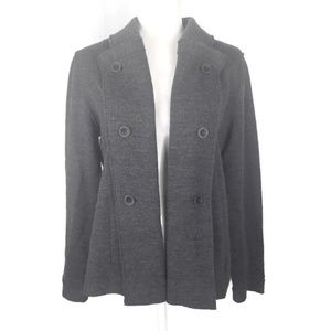 Eileen Fisher Gray Wool Sweater Jacket